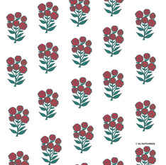pattern design - red blooms
