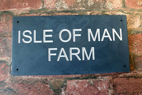 Slate Sign 300mm x 148mm approx