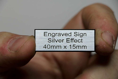 40 x 15mm 1.6mm Silver Laminate