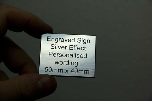 50 x 40mm 1.6mm Silver Laminate
