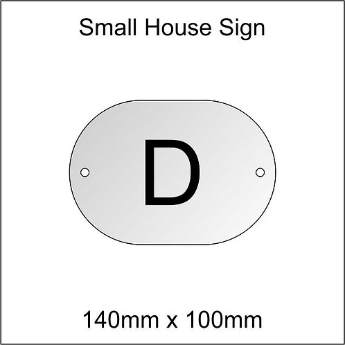 'D' House Sign Smaller Size