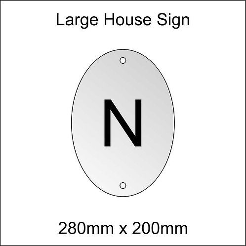 'N' House Sign Large Size
