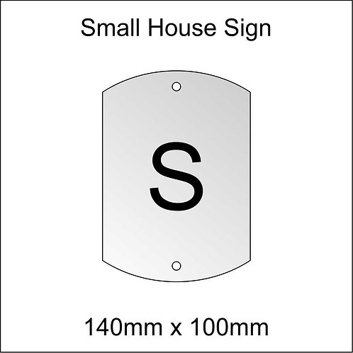 'S' House Sign Smaller Size