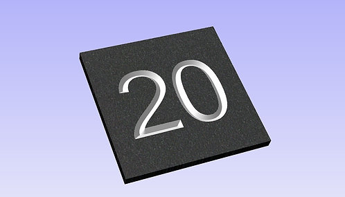 Slate Number Sign ( 2 numerals ) 150mm x 150mm approx