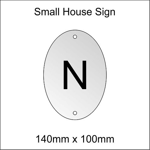 'N' House Sign Smaller Size