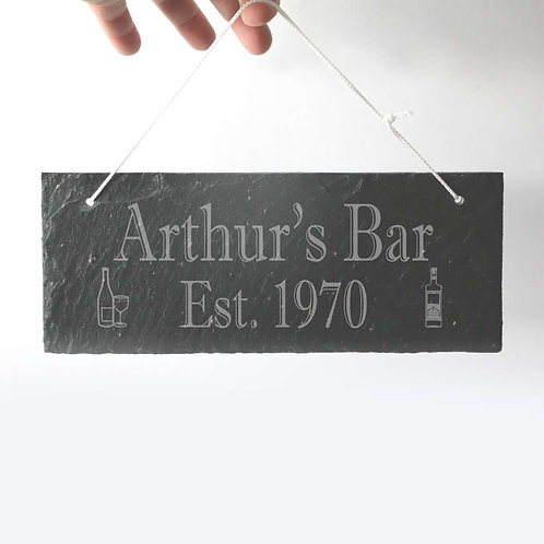 Bar Sign Slate Plaque 250 x 95mm approx