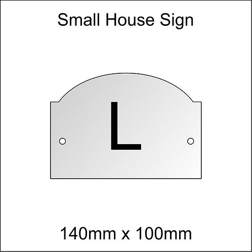'L' House Sign Smaller Size