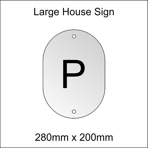 'P' House Sign Large Size