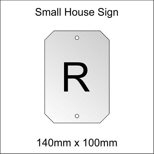 'R' House Sign Smaller Size