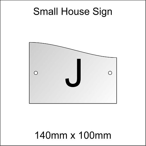 'J' House Sign Smaller Size