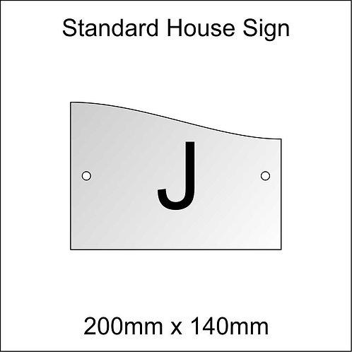 'J' House Sign Standard Size