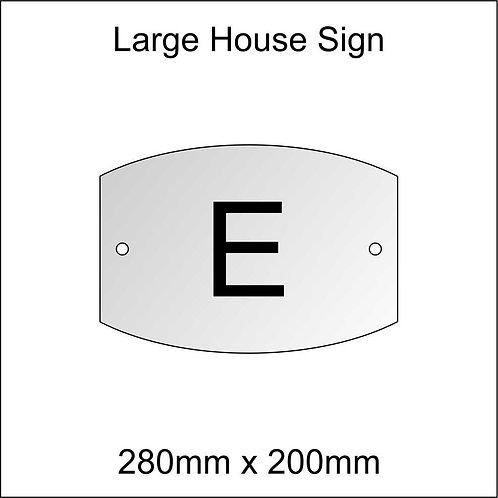 'E' House Sign Large Size
