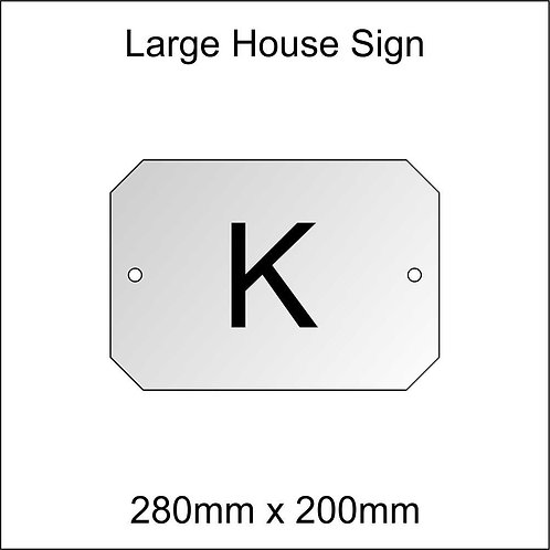 'K' House Sign Large Size