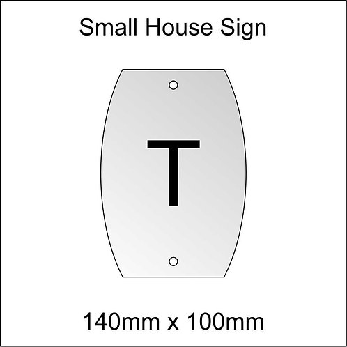 'T' House Sign Smaller Size