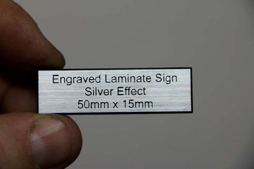 50 x 15mm 1.6mm Silver Laminate