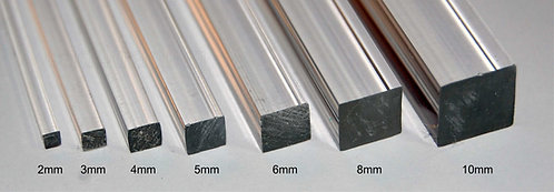 Square Acrylic Rod approx 300mm lengths