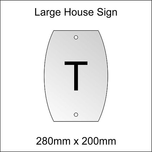 'T' House Sign Large Size
