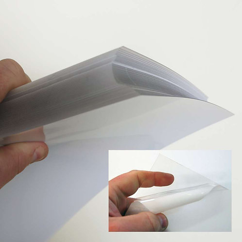 0.5mm ( 50 Sheet Pack ) Clear PETG A4+