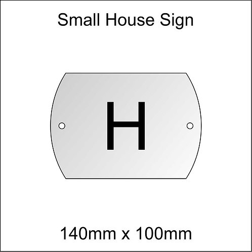 'H' House Sign Smaller Size