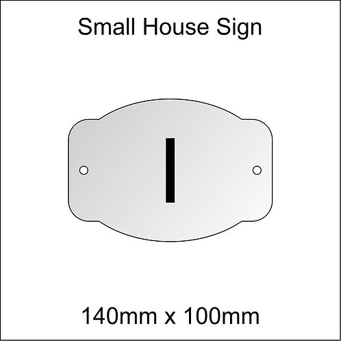 'I' House Sign Smaller Size