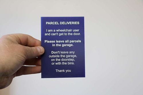 Parcel Deliveries 140mm x 100mm Acrylic Sign