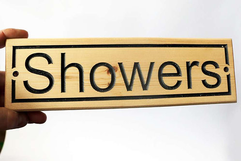 Showers Wood Sign 300mm x 90mm