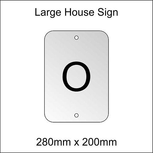 'O' House Sign Large Size