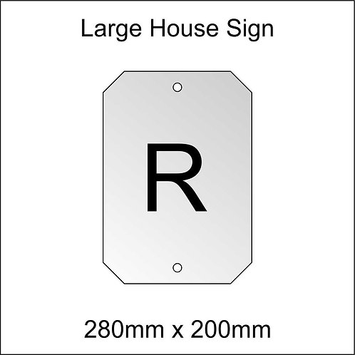 'R' House Sign Large Size