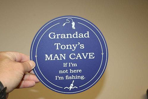 Blue Grandad Man Cave Plaque 195mm Diameter