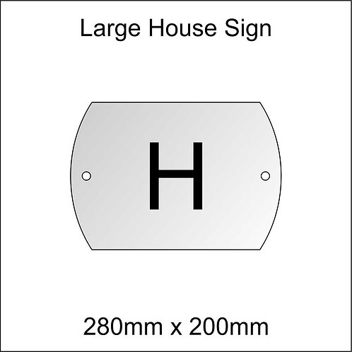 'H' House Sign Large Size