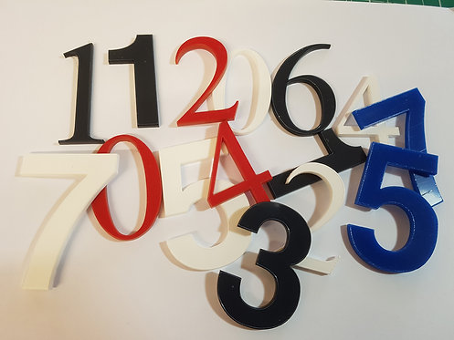 150mm High Cut Acrylic Numbers