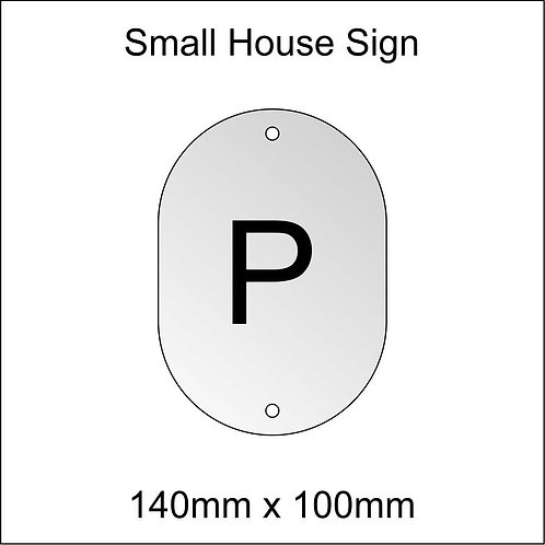 'P' House Sign Smaller Size