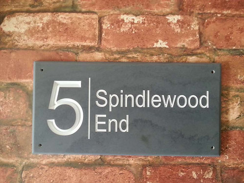 Slate Sign Number / House Name 300mm x 148mm approx