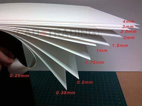 Mat White Styrene Sheet Plasticard H.I.P.S. A4+