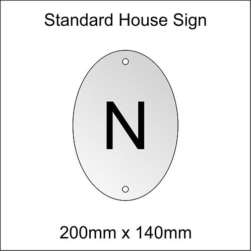 'N' House Sign Standard Size