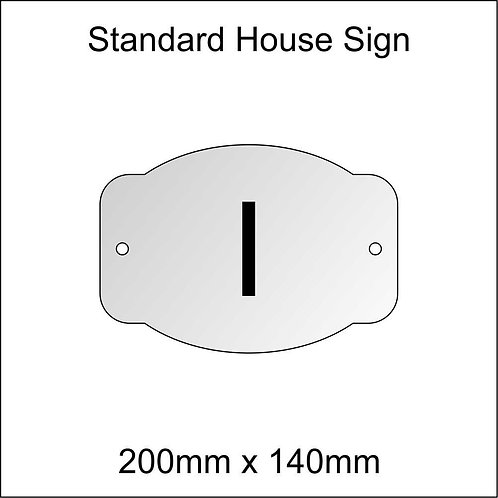 'I' House Sign Standard Size