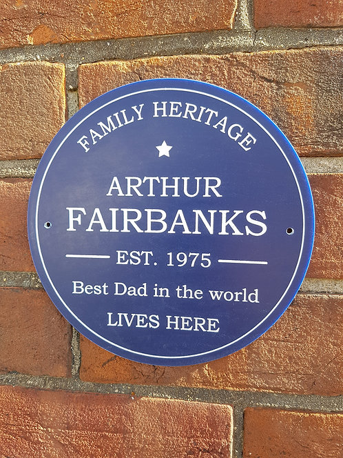 Family Heritage Plaque 195mm