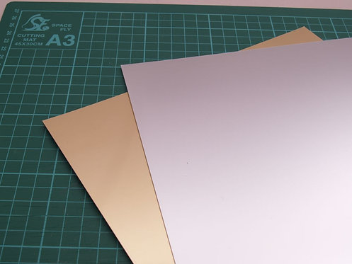 1mm Mirrored Styrene Sheet A4