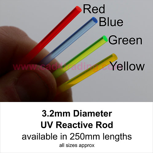 3.2mm Coloured Acrylic Rod approx 245mm