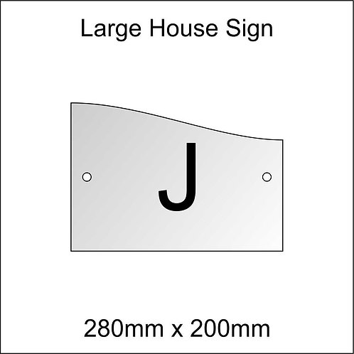 'J' House Sign Large Size