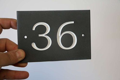 Slate Number Sign ( 2 numerals ) 140mm x 95mm approx