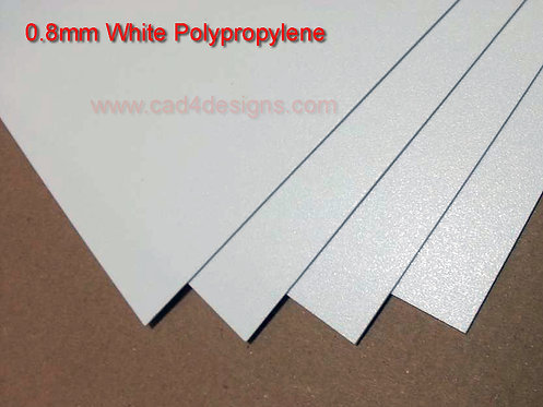 A3 White Polypropylene Sheet