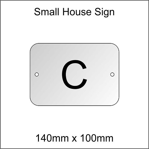 'C' House Sign Smaller Size