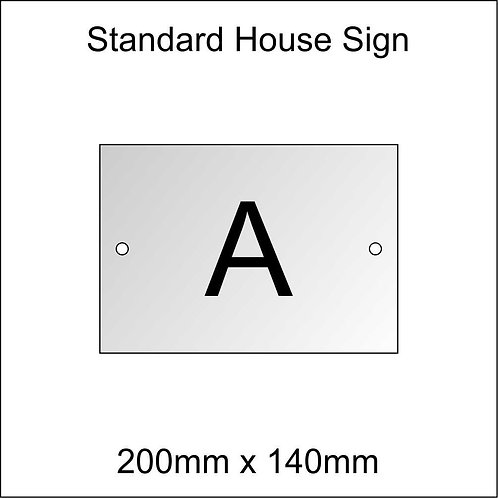 'A' House Sign Standard Size