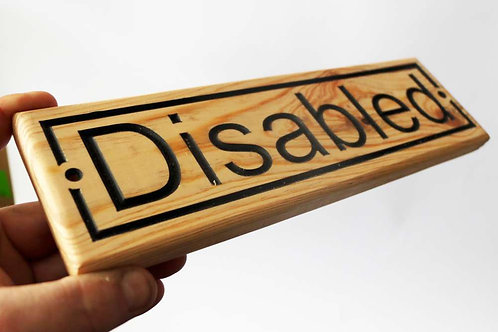Disabled Wood Sign 300mm x 90mm