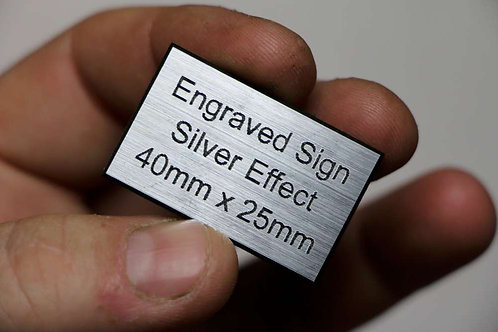 40 x 25mm 1.6mm Silver Laminate