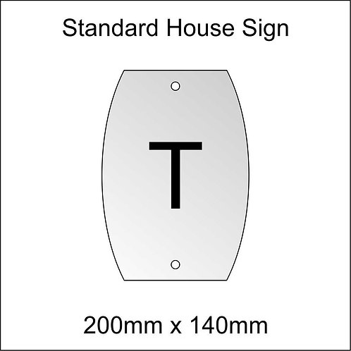 'T' House Sign Standard Size