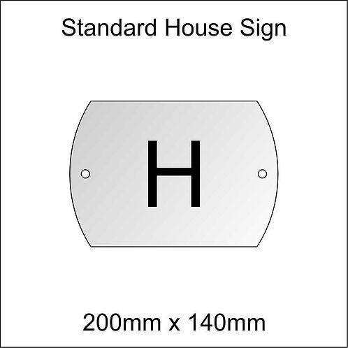 'H' House Sign Standard Size