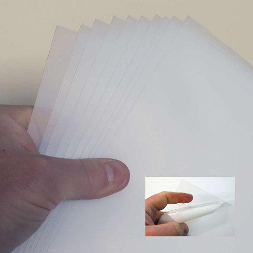 0.5mm ( 10 Sheet Pack ) Clear PETG A4+