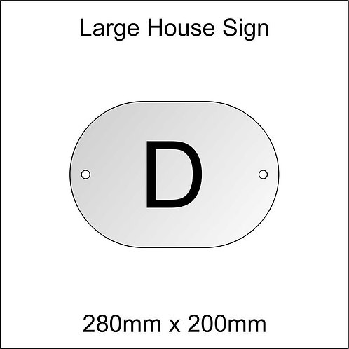 'D' House Sign Large Size